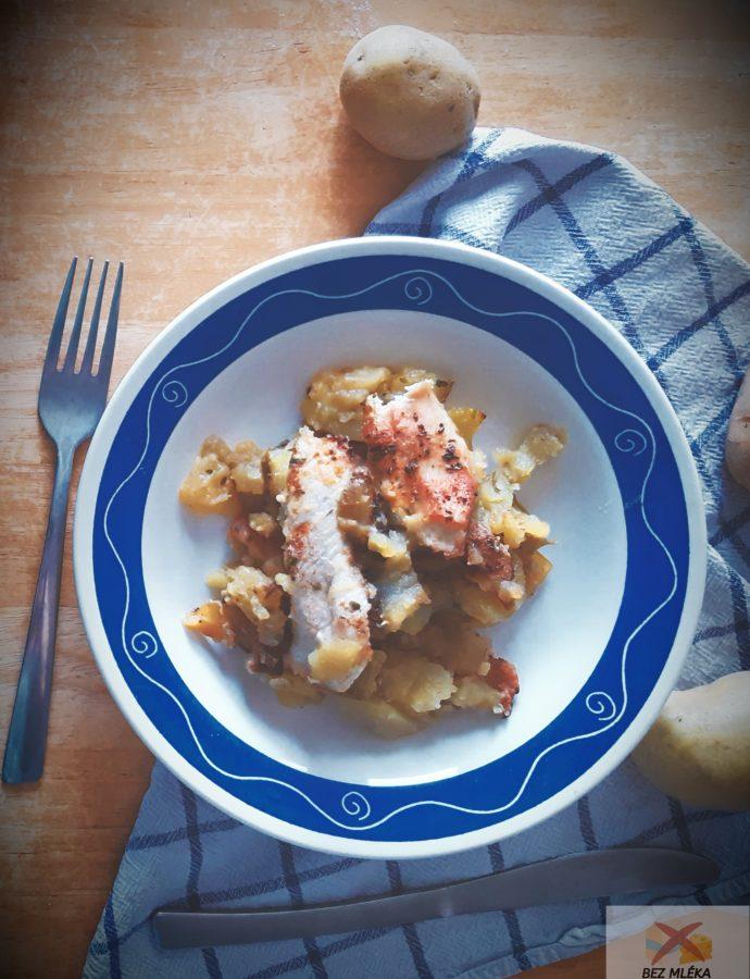 Smetanové brambory s kuřecím masem
