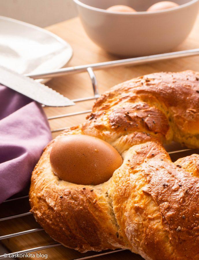 Rosca de pascua salada – španělský velikonoční slaný věnec