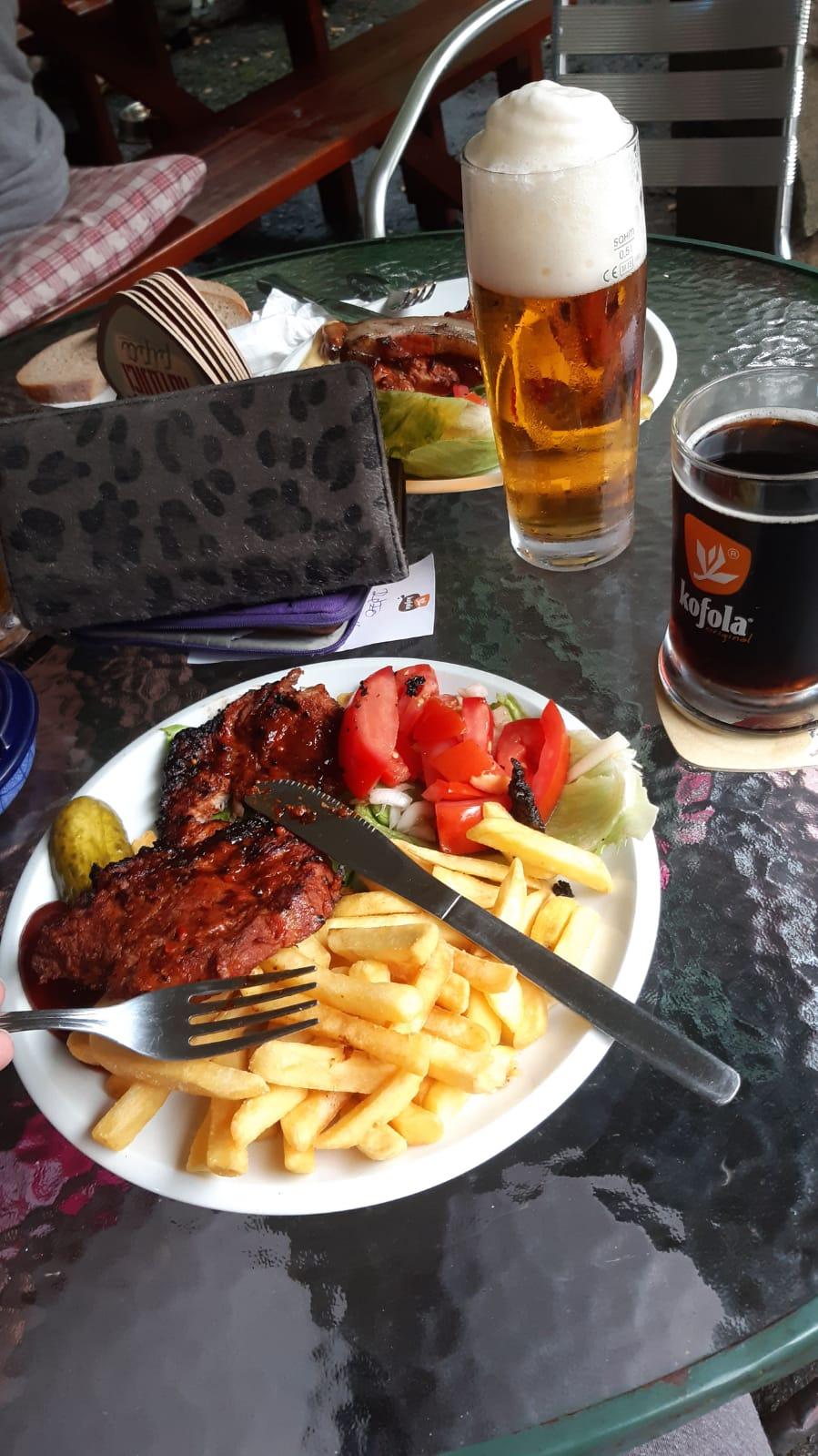 maso z ohně